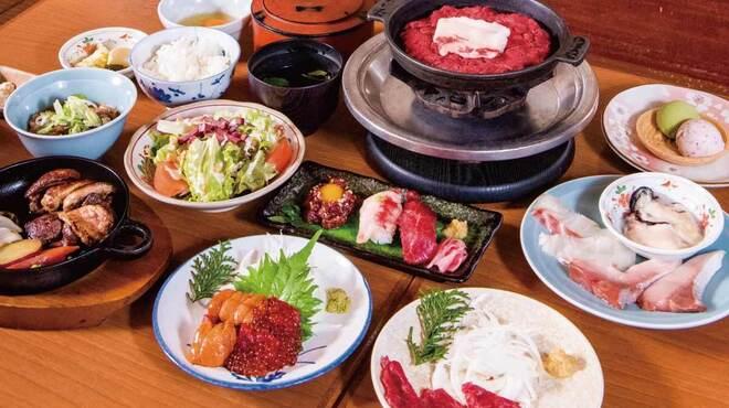 桜なべ 中江 - 料理写真:桜肉料理を存分にお楽しみいただけるコース
