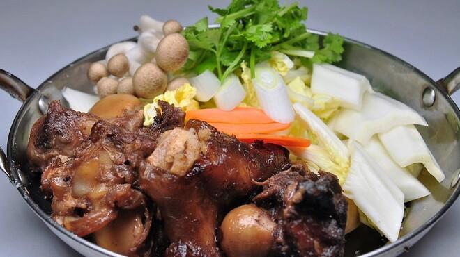 青空 - 料理写真:コラーゲン鍋(羊脚)