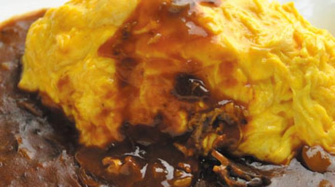 じゅらく - 料理写真:人気のオムライス ハヤシソース 定番です♪