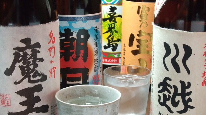 MARUYOSHI - 料理写真:約30種類の焼酎&10種類の日本酒も用意してます!
