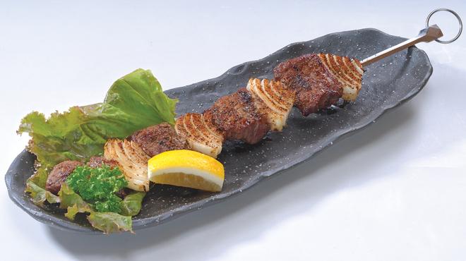 あぶらや - 料理写真:ケイジャン・ビーフケバブ 赤字覚悟の銀串焼き!大好評です