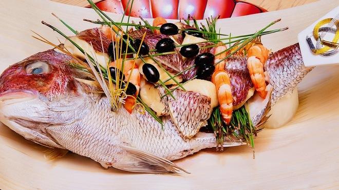料理屋 真砂茶寮 - 料理写真:【祝鯛】オプショナルの祝いの料理