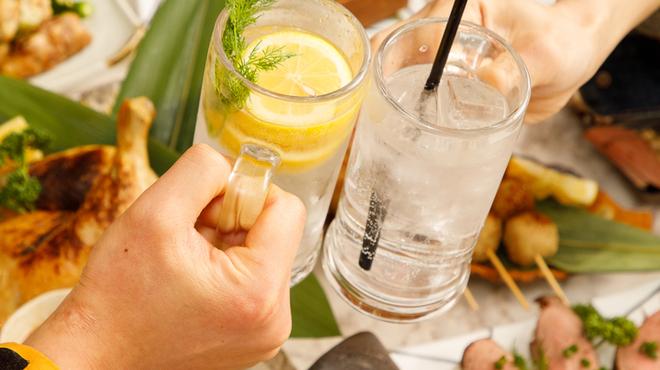 卓上無限レモンサワー飲み放題と比内地鶏 はなこま - メイン写真: