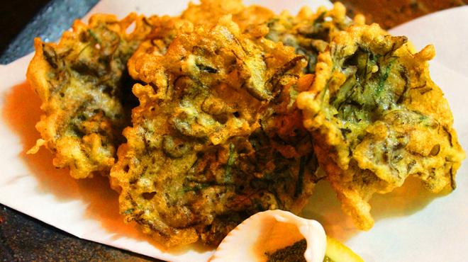 海八 - 料理写真:もずくの天ぷらです