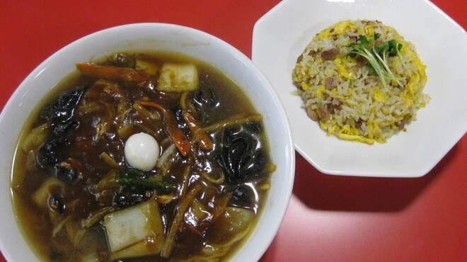 天鳳 - 料理写真:「天鳳麺と半チャーハンのセット」1,200円