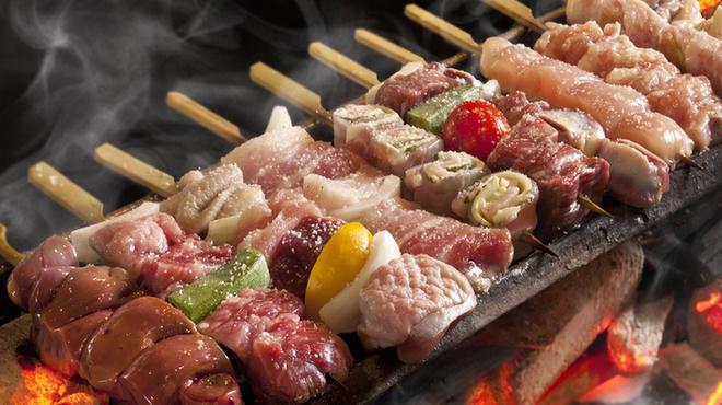 はかた風土 - 料理写真:竹炭で焼くやき鳥