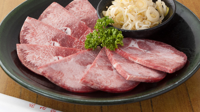 山水苑 - 料理写真:上タン塩(和牛クロタン)