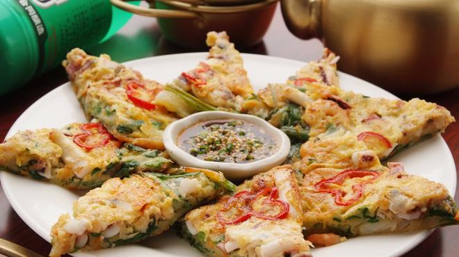 味音 - 料理写真:海鮮チヂミ