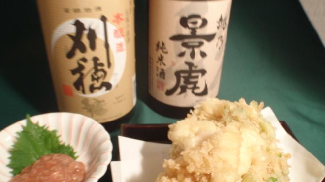 笑笑庵 - 料理写真:お料理に合う日本酒。