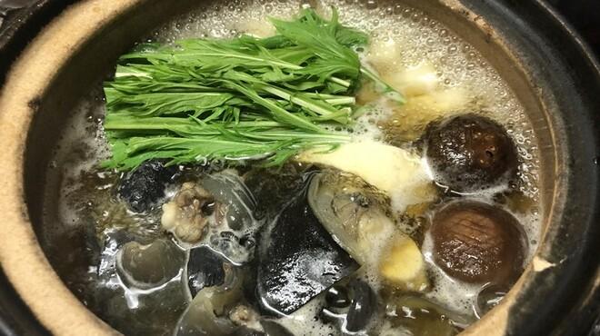 かなわ - 料理写真:かきスッポン鍋コース