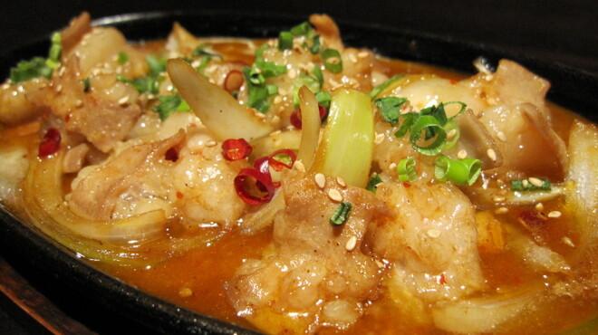 九州居酒屋 克 - 料理写真:ホルモン辛みそ鉄板 780円