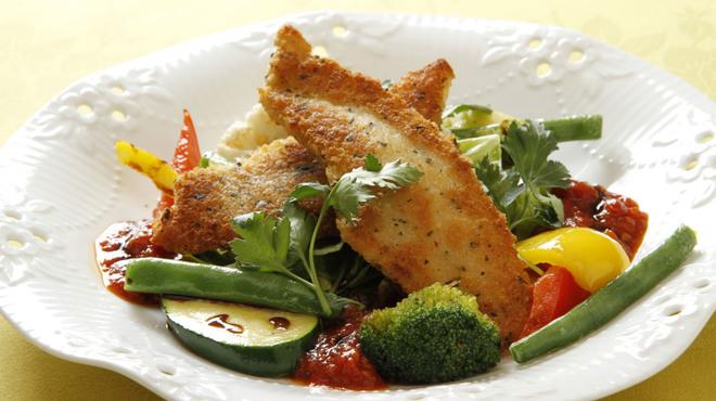 Souzaemon - 料理写真:舌平目の香草パン粉焼き 温野菜添え