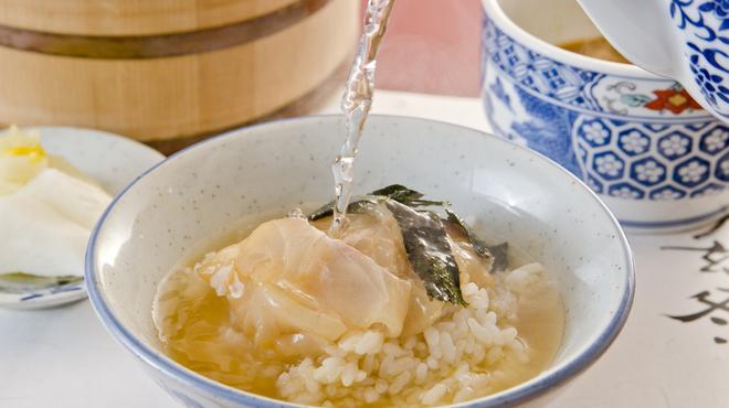 """割烹よし田 - 料理写真:これが よし田名物 """"鯛茶"""" (1050円) 県外からもわざわざ食べに来て頂いてます。ランチ可。"""