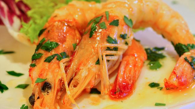 ラ クッチーナ ビバーチェ - 料理写真:天使の海老のグリル 素材の味を最大限に引き出します