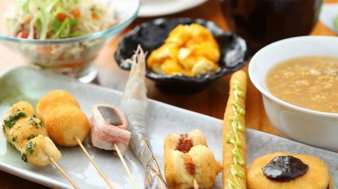 串柾 - 料理写真:『野菜串がメインの『7種の串揚げランチ』』