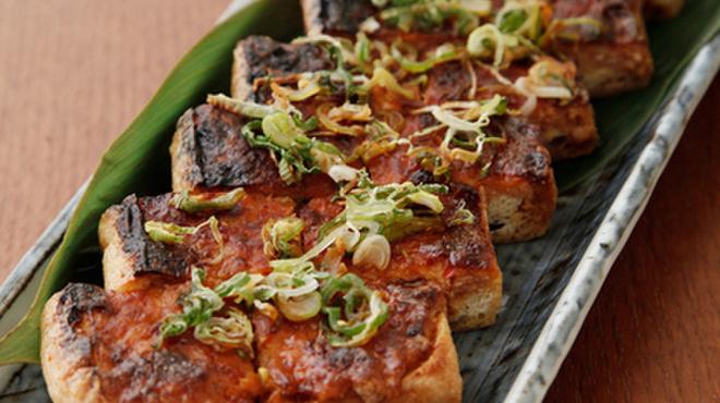 味人 - 料理写真:キムチつくねお揚げ焼き