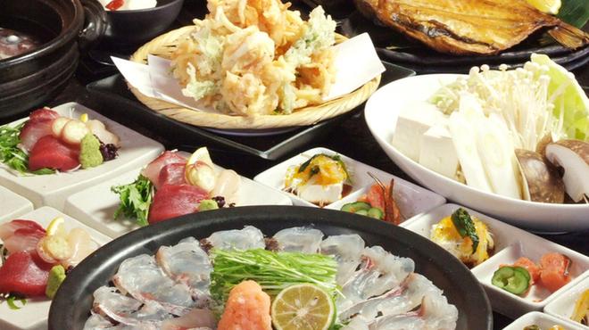 ぶあいそ - 料理写真:春限定「真鯛のしゃぶしゃぶコース」飲み放題100分つき5,000円♪