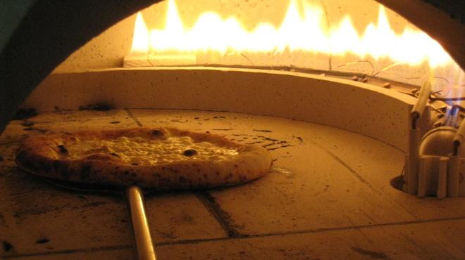 ハーレーパーク - 料理写真:本格石窯で焼き上げるナポリピッツァ