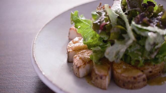 信州松本ヒカリヤ - 料理写真:山形村の長芋のローストサラダ 柚子胡椒ドレシッング