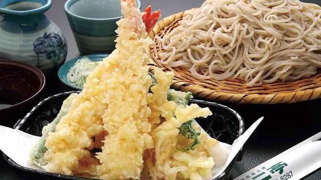 そば処 よこ亭 - 料理写真:人気の「えび・野菜天ざるそば」1,450円