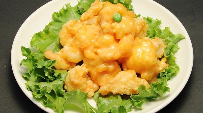 永利 - 料理写真:エビのマヨネーズ風味