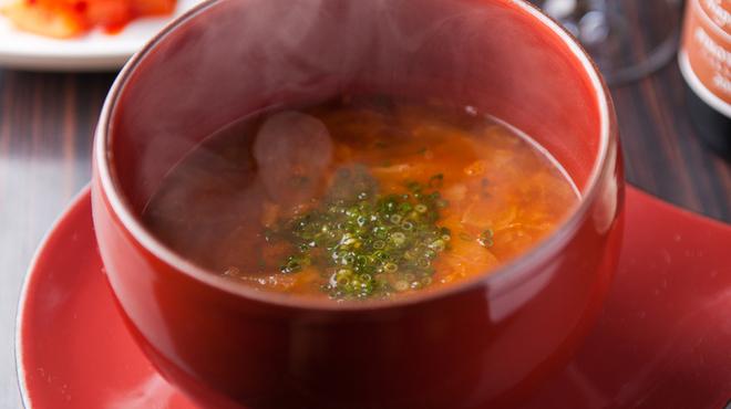 蔓牛 - 料理写真:コラーゲンたっぷりシレギスープ