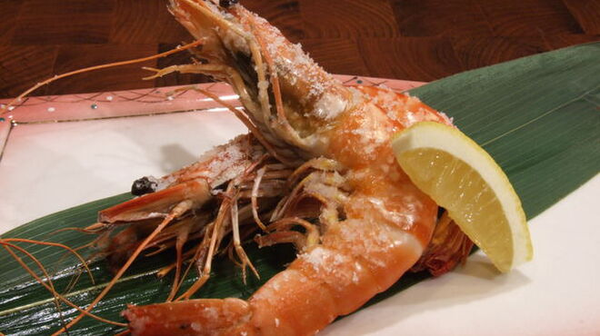 鬼瓦平蔵 - 料理写真:有頭エビの塩焼き
