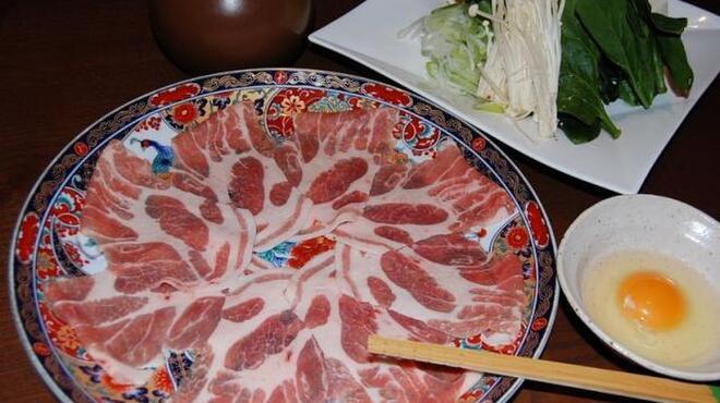 旬野菜 和料理 いし井 - 料理写真:三元豚のしゃぶすき(写真は2人前)