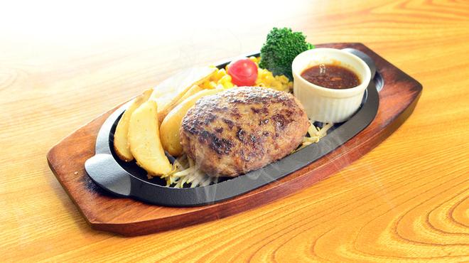 ハンバーグ・ステーキ宮崎亭 - 料理写真:宮崎産和牛100%のハンバーグ ランチセット1000円~