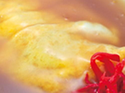 萬珍軒 - 料理写真:なかはとろとろの半熟たまごです★かに玉