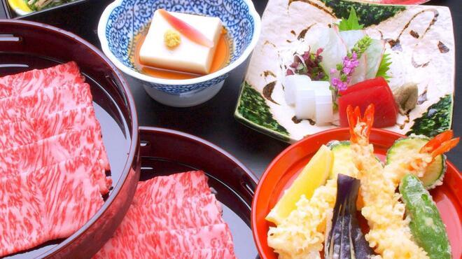 美々卯 - 料理写真:しゃぶしゃぶあかねコース ¥7000