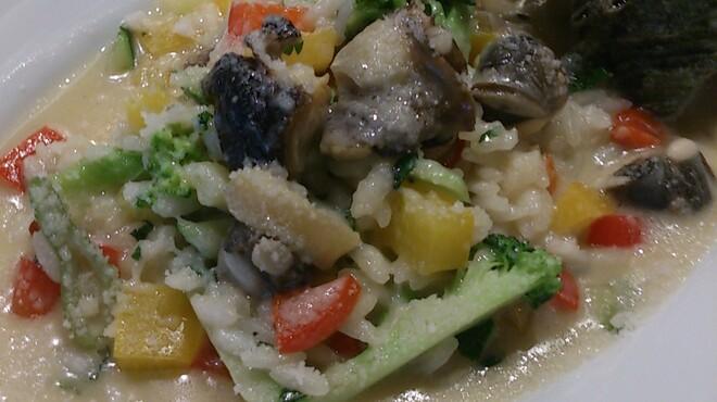 ナビリオ - 料理写真:サザエと夏野菜のリゾット
