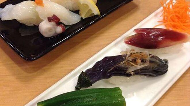 鮨八  - 料理写真:夏の3貫盛り