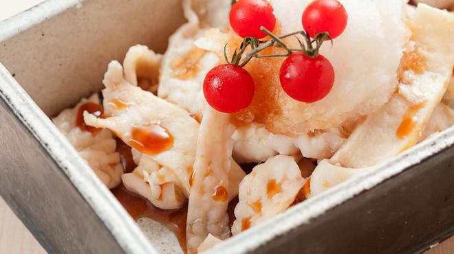 吹上舎 - 料理写真:鶏皮ポン酢~おろし仕立て~ 500円