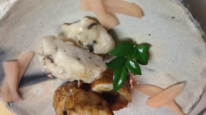 魚彩鶴巳 - 料理写真:鱧コースの一品