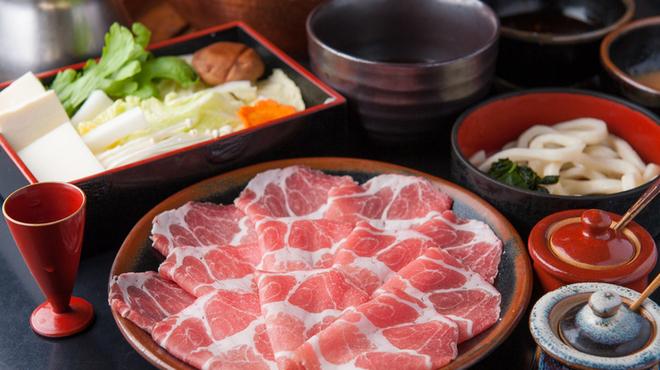 しゃぶ亭 - 料理写真:モチモチッとした歯ごたえのある『特選豚しゃぶコース』