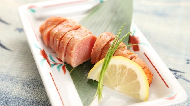 五六八そば - 料理写真:日本酒にはシンプルに炙った明太子で・・・