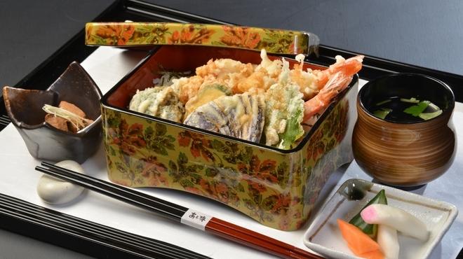 季節料理 あら珠 - 料理写真:車海老と旬菜の天重