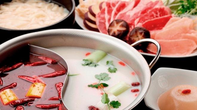 金燕酒家 - 料理写真:美白湯はコラーゲンとビタミン補充♪麻辣湯は脂肪燃焼と薬膳効果!