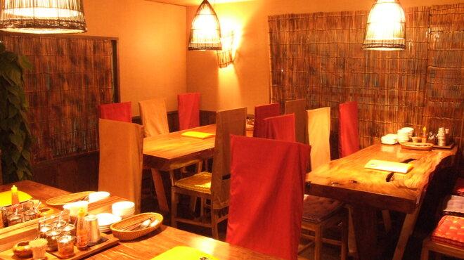 熱帯食堂 - 内観写真:アジアンムード満点♪ゆったりとした時間を感じていただける店内です。