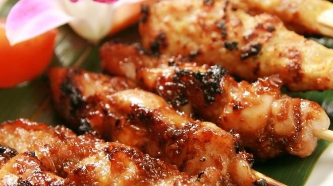 熱帯食堂 - 料理写真:サテ☆は、インドネシア、 マレーシア、シンガポール、フィリピン、タイなどの東南アジア諸国で広く食べられている 串焼き料理です♪。