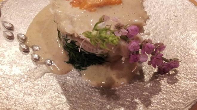 ままごとや - 料理写真:毛ガニのかに味噌ソース掛け 日本酒と相性抜群!!