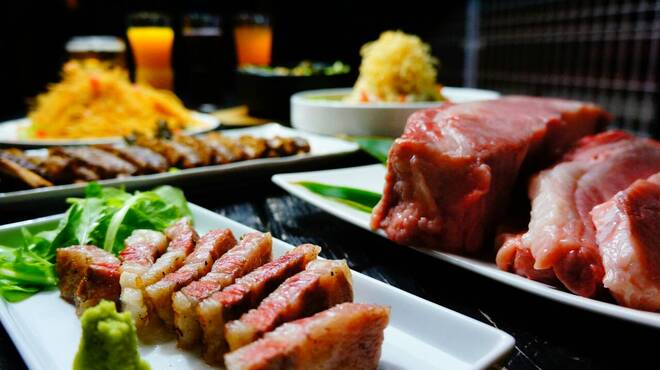 炭焼家 てんぷす - 料理写真:やんばる和牛祭り宴会コース 料理全6品 3000円