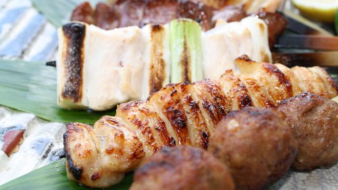 葡萄屋 - 料理写真:焼きとり/一人前 ¥2800〜 ハツ、ヤゲン、レバ、砂肝、ひざなんこつ、もも串、手羽先、ねぎ串、玉ねぎ、ボン、ギンナン、つくね 他、季節の野菜いろいろ