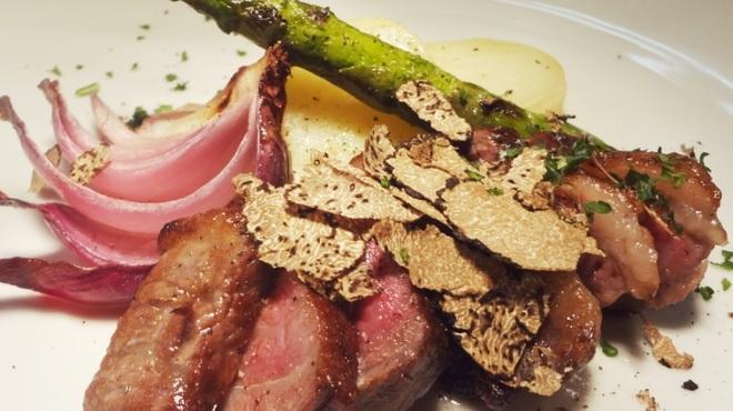 オステリア ガウダンテ - 料理写真:トリュフを使用した和牛のタリアータ