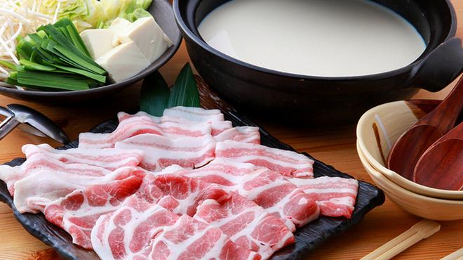 だんらん家 - 料理写真:≪これはご堪能下さい≫芳寿豚豆乳鍋コース(2名様~)