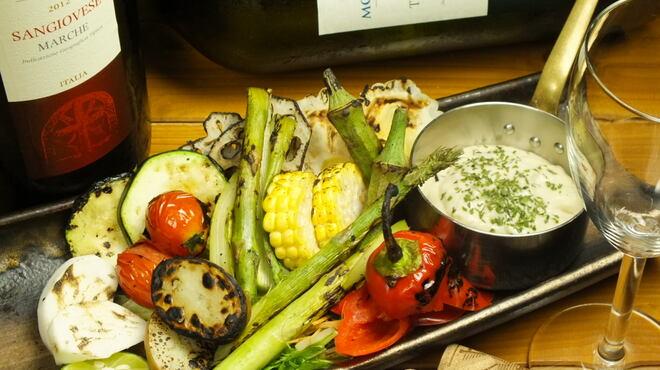 うまいもん焼 参 - 料理写真:炭焼き野菜たっぷりのバーニャカウダ