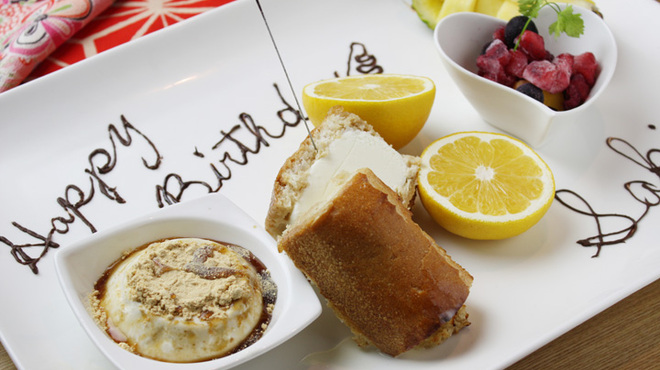 """てやん亭"""" - 料理写真:誕生日のお祝いもてやん亭で!"""