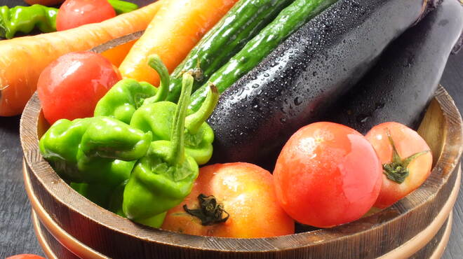 肴や だんじ - 料理写真:野菜は糸島の農家さん直送の新鮮野菜