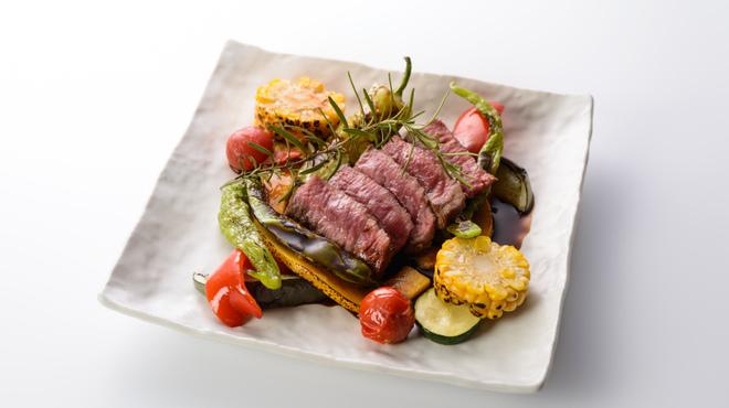 お野菜びすとろ 志あわせ - 料理写真:岩手県山形村短角牛のステーキ たまり醤油ソース